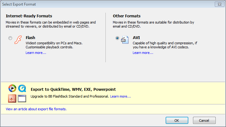 How to Export FlashBack FBR Recording To MP4 & MKV