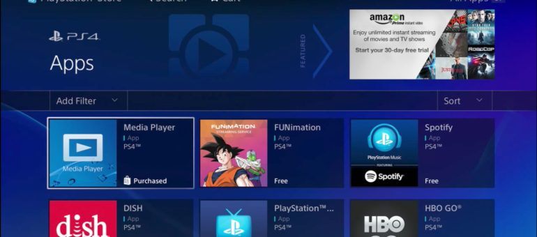Play movies on PS4 from USB with Playstation 4 media player